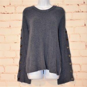 MADEWELL Soft Blue Wool Alpaca Blend Sweater